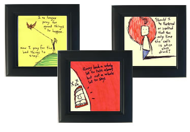 Purchase Framed & Unframed Original Sticky Note & Webcomic Art